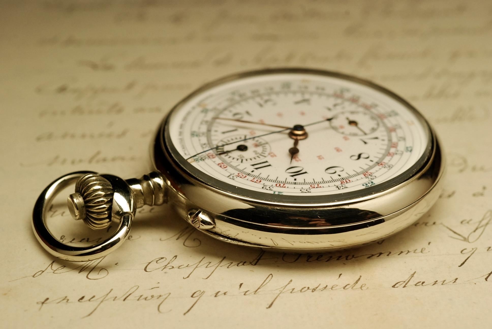 ancienne montre gousset chronographe 1910 vintage pocket. Black Bedroom Furniture Sets. Home Design Ideas