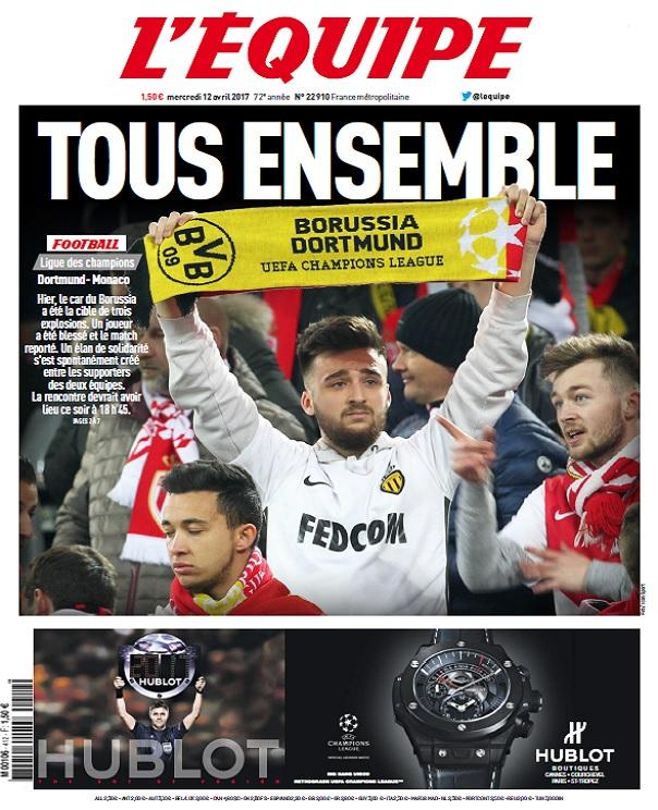 télécharger L'Equipe Du Mercredi 12 Avril 2017