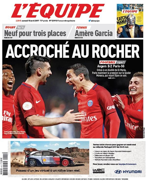 télécharger L'Equipe Du Samedi 15 Avril 2017
