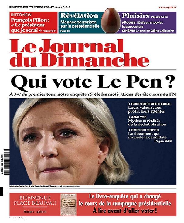 télécharger Le Journal Du Dimanche N°3666 Du 16 Avril 2017
