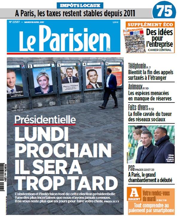 télécharger Le Parisien + Eco + Journal De Paris Du Mardi 18 Avril 2017