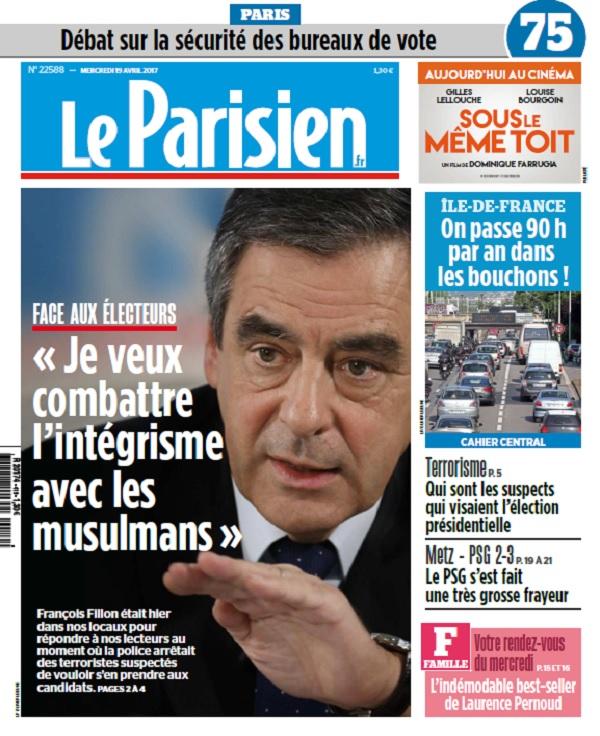 Le Parisien + Journal De Paris Du Mercredi 19 Avril 2017