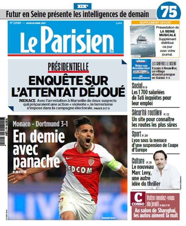 Le Parisien + Journal De Paris Du Jeudi 20 Avril 2017