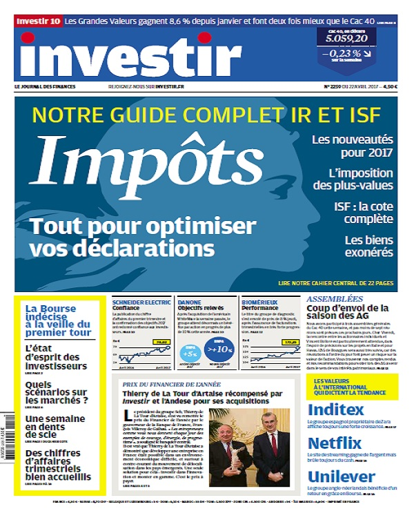 Investir N°2259 Du 22 Avril 2017