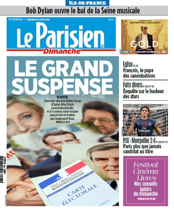 Le Parisien + Ile De France Du Dimanche 23 Avril 2017