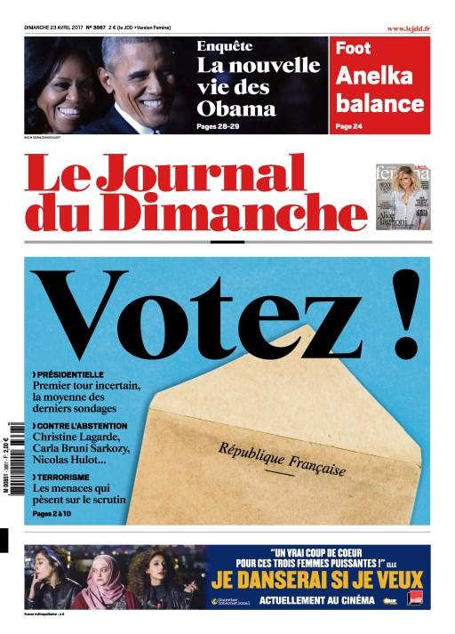 Le Journal du Dimanche N°3667 - 23 Avril 2017