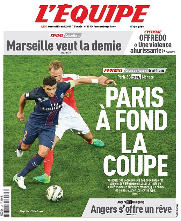 télécharger L'Equipe Du Mercredi 26 Avril 2017
