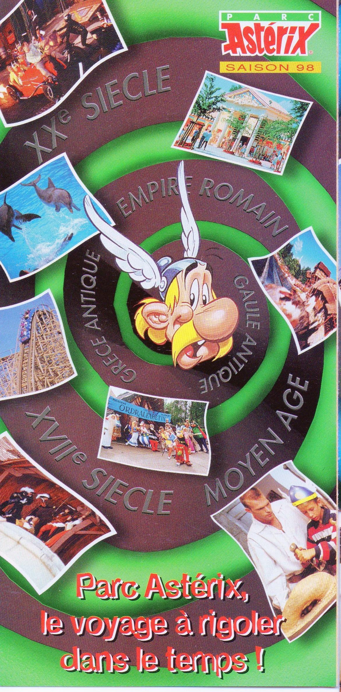 Dépliants, plans, tickets du Parc Astérix 17042610571273497