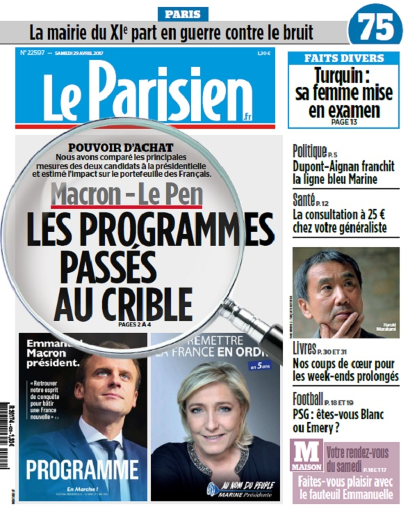 télécharger Le Parisien + Journal De Paris Du Samedi 29 Avril 2017