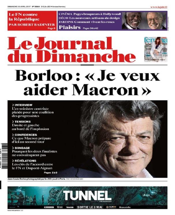 télécharger Le Journal Du Dimanche N°3668 Du 30 Avril 2017