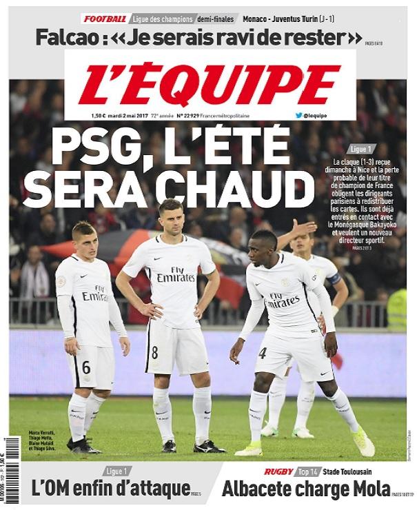 télécharger L'Equipe Du Mardi 2 Mai 2017