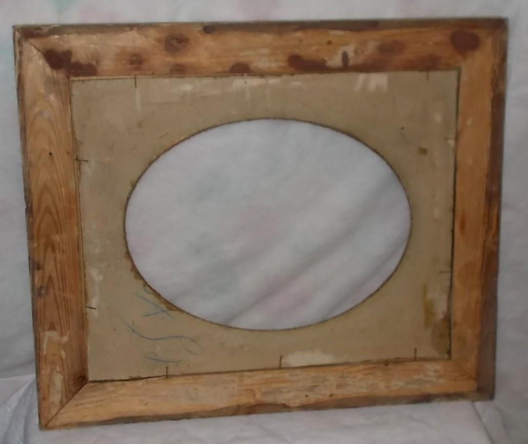 ancien superbe cadre bois stuc dor avec marie louise fin xix me pour 40x50cm. Black Bedroom Furniture Sets. Home Design Ideas