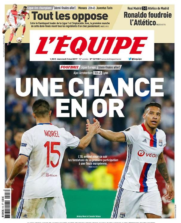 télécharger L'Equipe Du Mercredi 3 Mai 2017