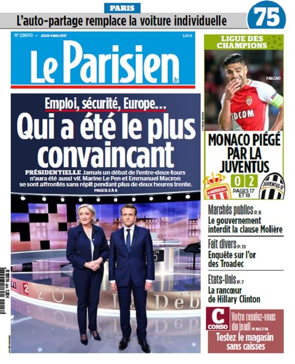 télécharger Le Parisien + Journal De Paris + Seine St Denis Du Jeudi 4 Mai 2017