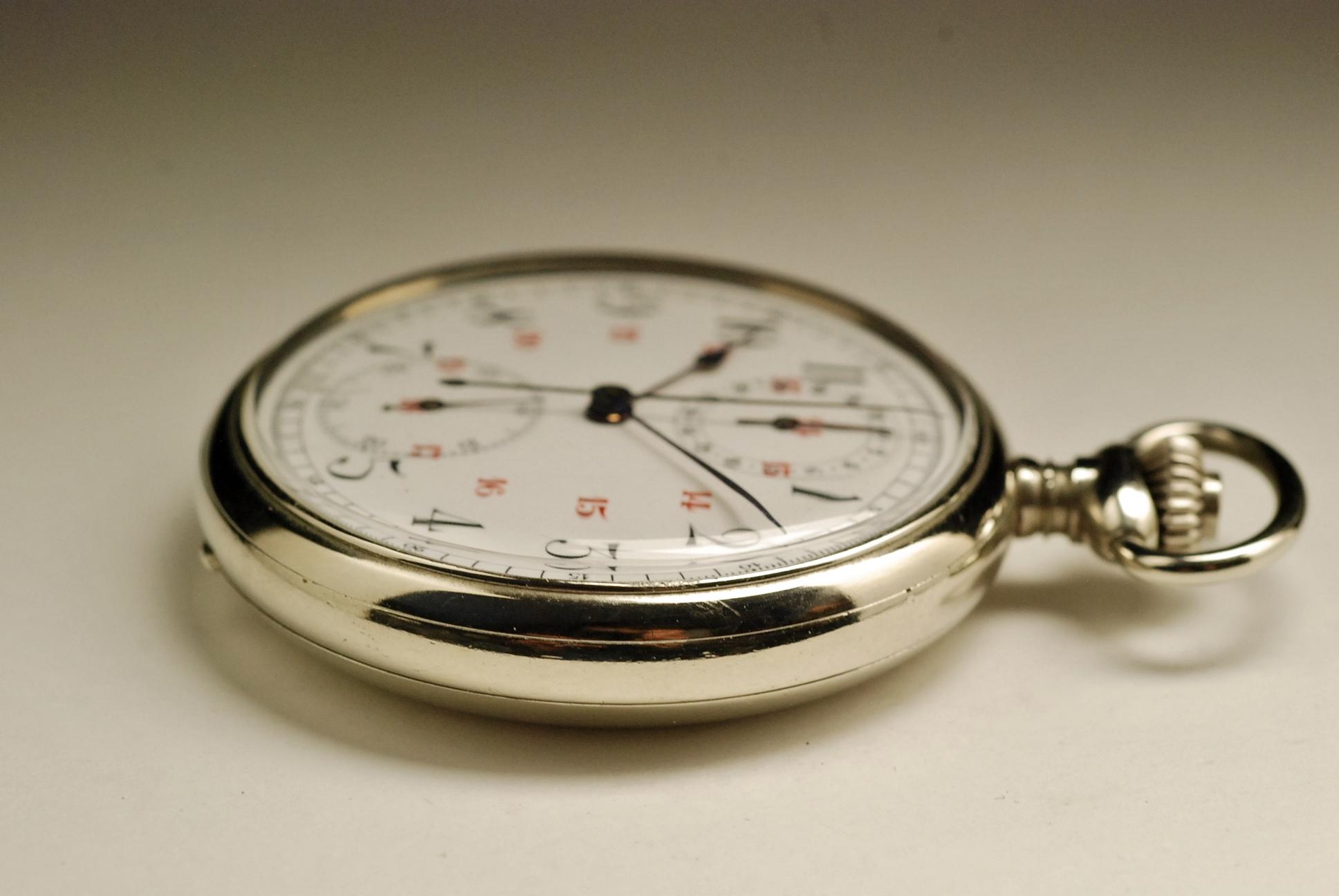 ancienne montre gousset le phare chronographe 1910 vintage. Black Bedroom Furniture Sets. Home Design Ideas