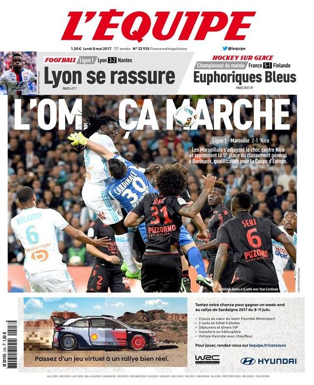 télécharger L'Equipe Du Lundi 8 Mai 2017