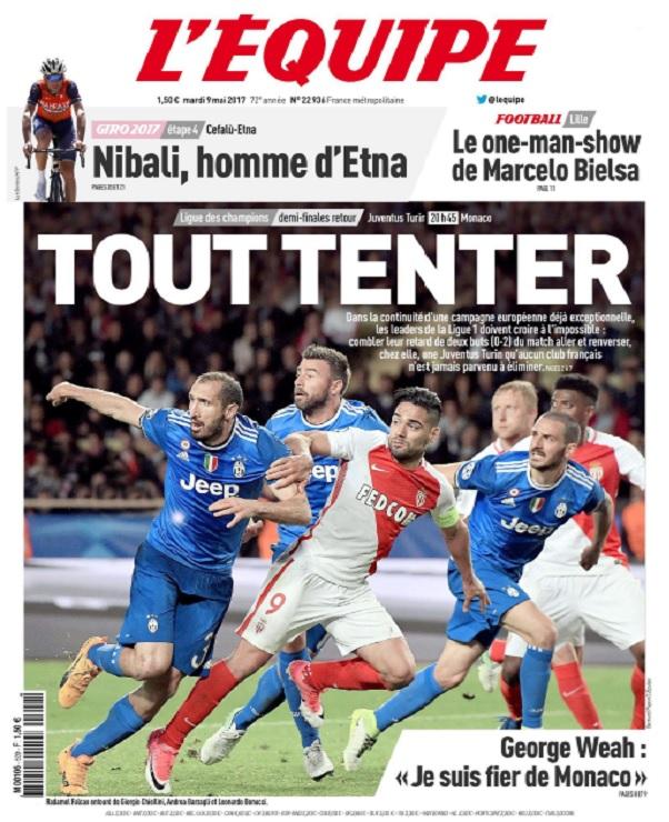 télécharger L'Equipe Du Mardi 9 Mai 2017