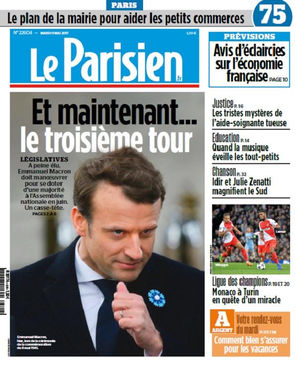 télécharger Le Parisien + Journal De Paris + Seine St Denis Du Mardi 9 Mai 2017