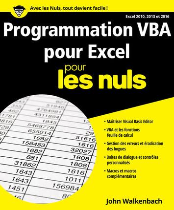 télécharger Programmation VBA pour Excel pour les nuls ( Mai 2017 ). First