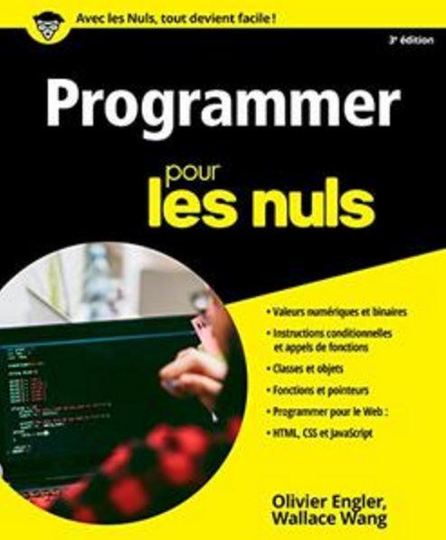 télécharger Programmer pour les Nuls, 3e édition de Olivier Engler et Wallace Wang 2017