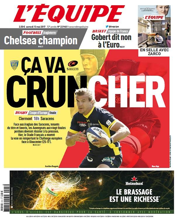 télécharger L'Equipe Du Samedi 13 Mai 2017