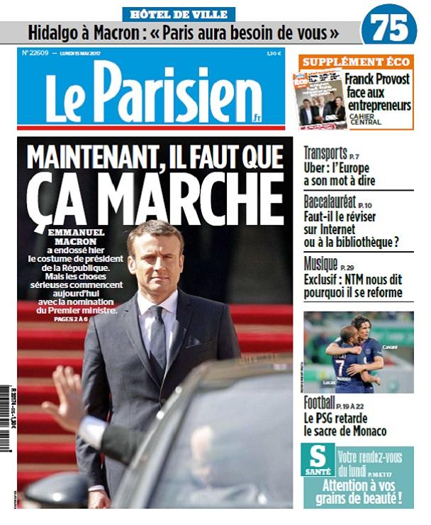 télécharger Le Parisien + Eco + Journal de Paris Du Lundi 15 Mai 2017