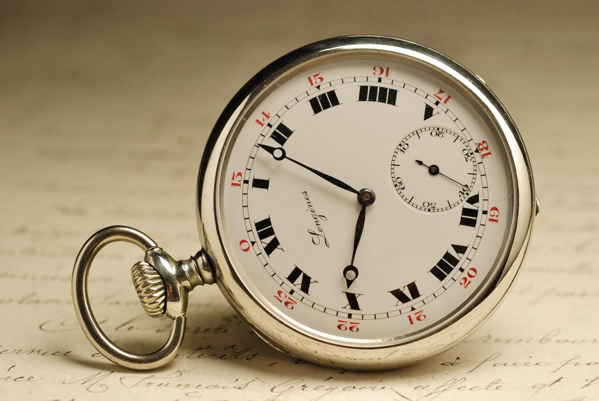 ancienne montre gousset longines 1915 vintage pocket watch. Black Bedroom Furniture Sets. Home Design Ideas