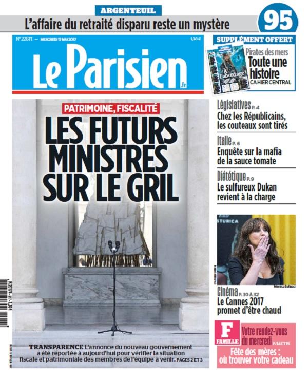 télécharger Le Parisien + Journal De Paris + Seine st Denis Du Mercredi 17 Mai 2017