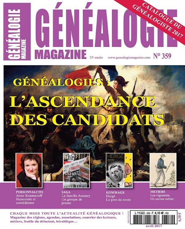 télécharger Généalogie N°359 - Avril 2017
