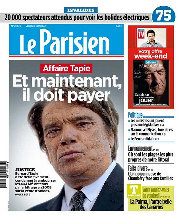 télécharger Le Parisien + Magazine + Journal De Paris Du Vendredi 19 Mai 2017