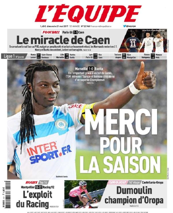 télécharger L'Equipe Du Dimanche 21 Mai 2017