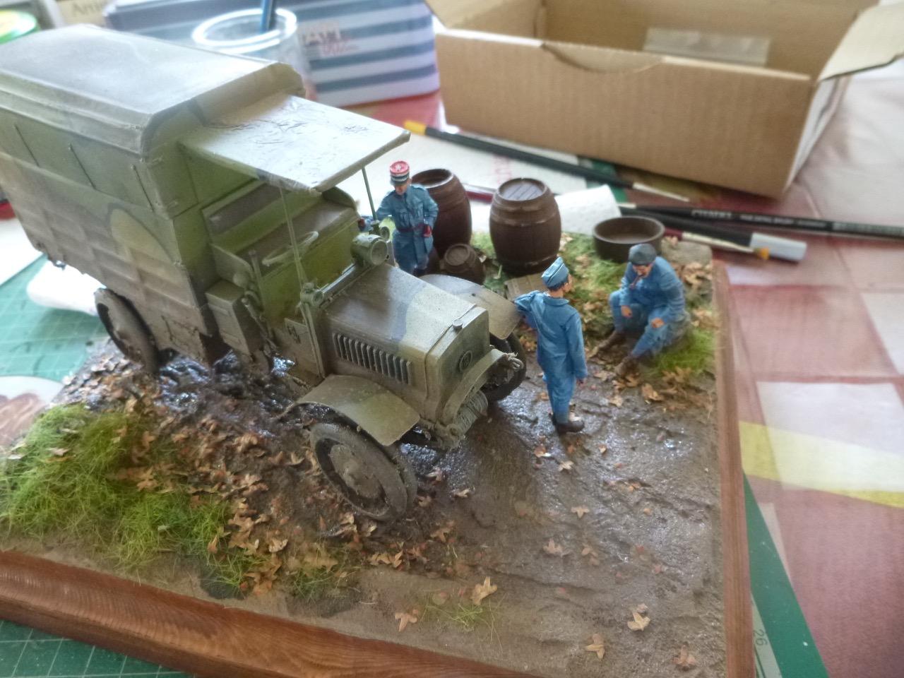 Camion Chatillon Panhard 1917 - résine de chez Blitz au 1/35 - Page 3 170523055445325185