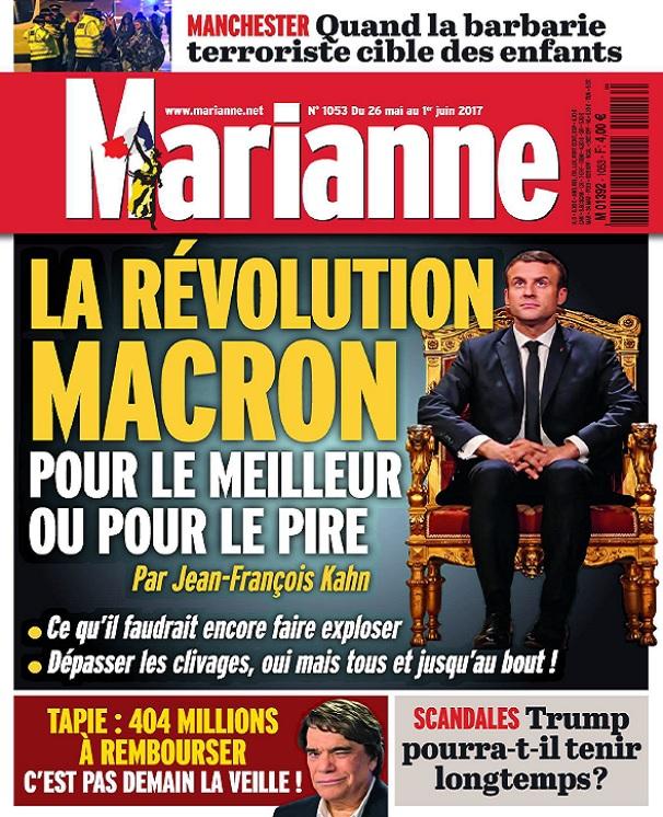 télécharger Marianne N°1053 Du 26 Mai 2017