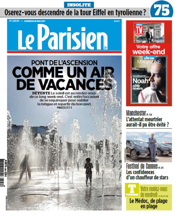 Le Parisien + Magazine + Journal De Paris + Seine st Denis Du Vendredi 26 Mai 2017