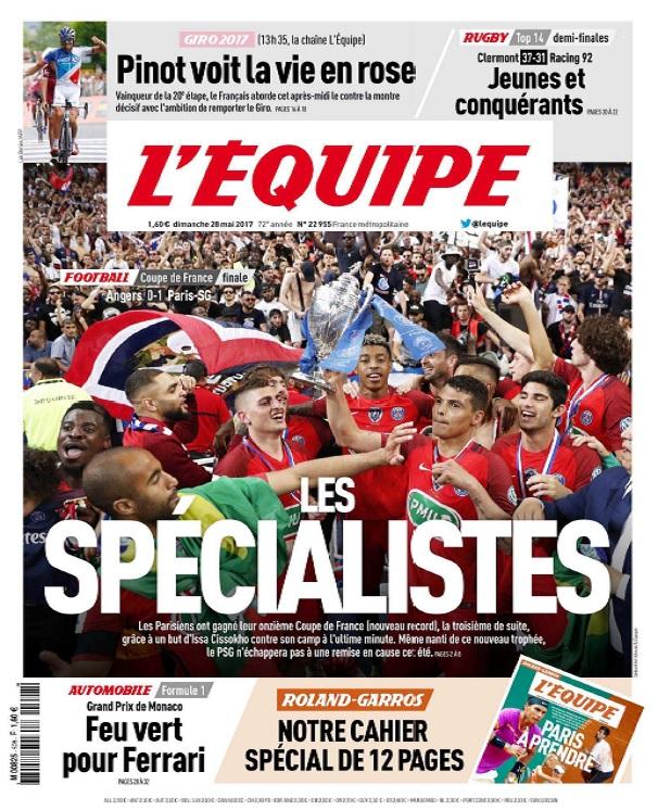 télécharger L'Equipe Du Dimanche 28 Mai 2017