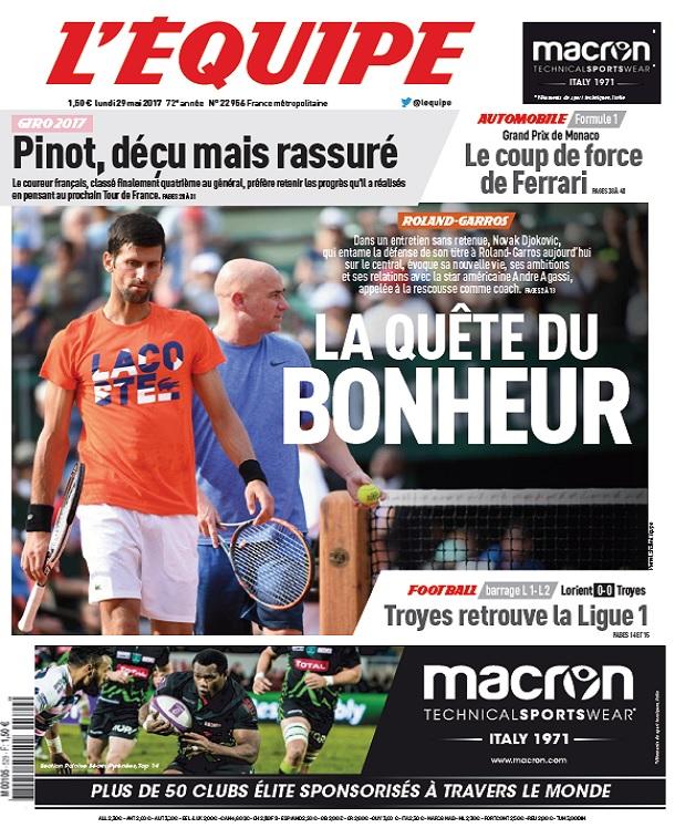 télécharger L'Equipe Du Lundi 29 Mai 2017