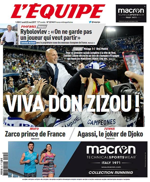 télécharger L'Equipe Du Mardi 30 Mai 2017