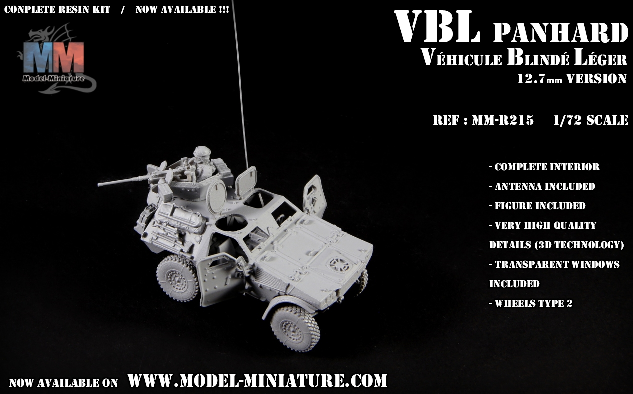 vbl panhard vehicule blinde leger maquette scale 1.72 12.7mm model reduit VBL.jpg armee francaise mitrailleuse french army Panhard