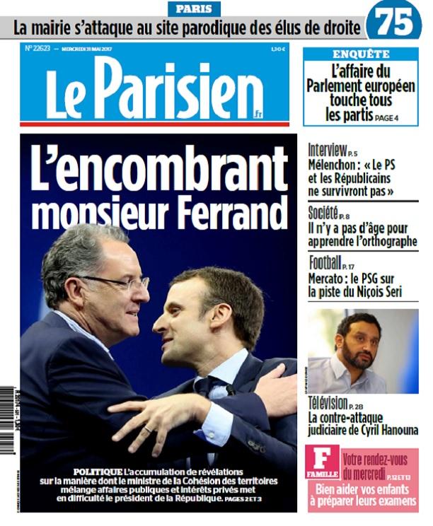 télécharger Le Parisien + Journal De Paris Du Mercredi 31 Mai 2017