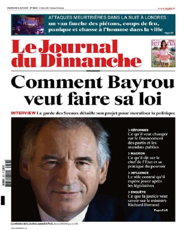 télécharger Le Journal Du Dimanche N°3673 Du 4 Juin 2017