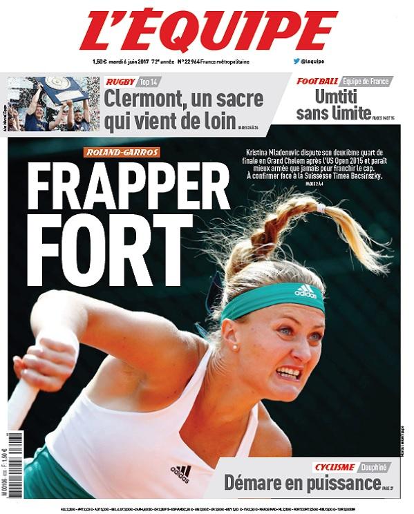 télécharger L'Equipe Du Mardi 6 Juin 2017