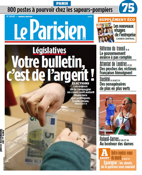 télécharger Le Parisien + Eco + Journal De Paris Du Mardi 6 Juin 2017