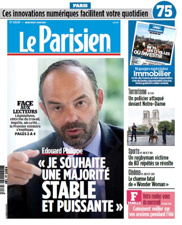 télécharger Le Parisien + Journal De Paris Du Mercredi 7 Juin 2017