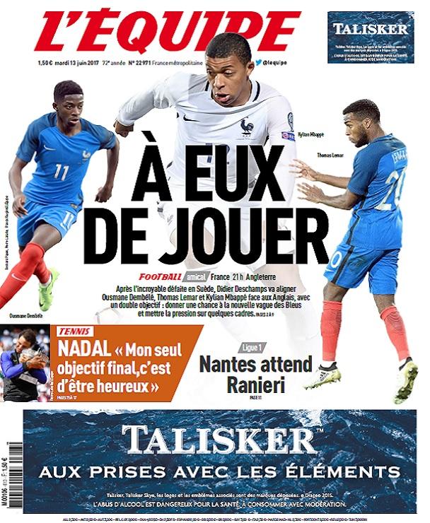 télécharger L'Equipe Du Mardi 13 Juin 2017