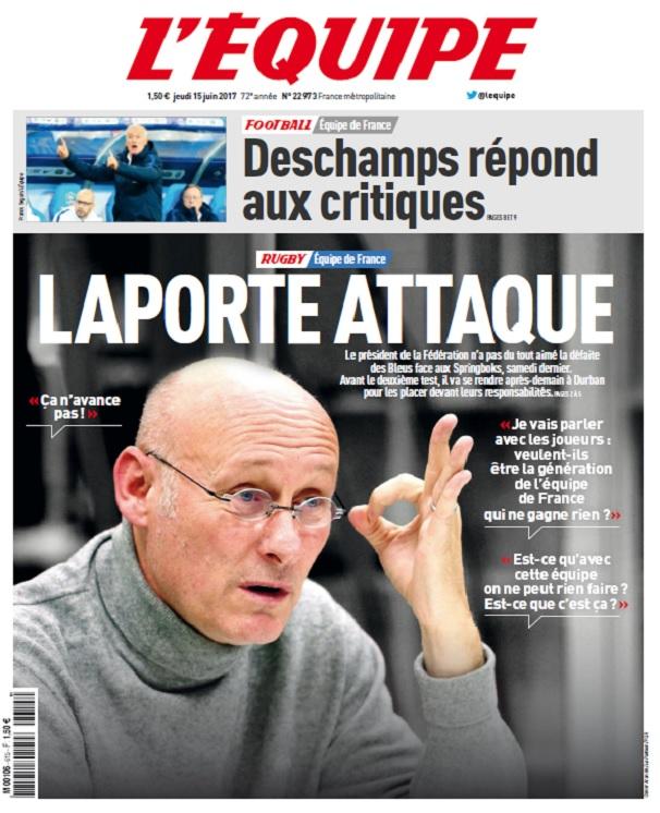 télécharger L'Equipe Du Jeudi 15 Juin 2017