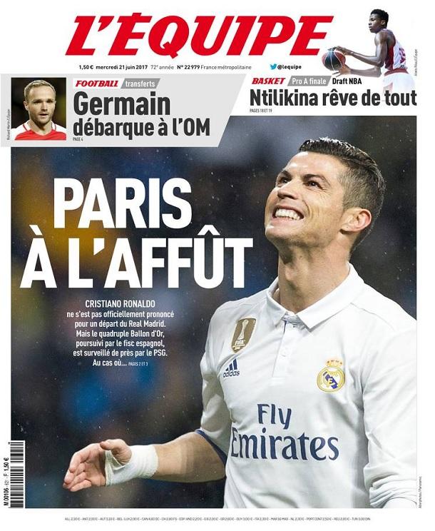 télécharger L'Equipe Du Mercredi 21 Juin 2017