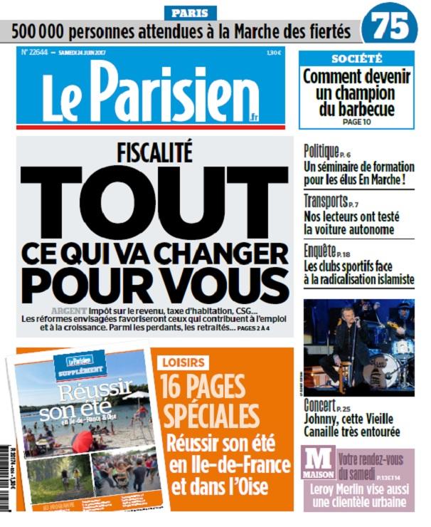 télécharger Le Parisien + Journal De Paris Du Samedi 24 Juin 2017
