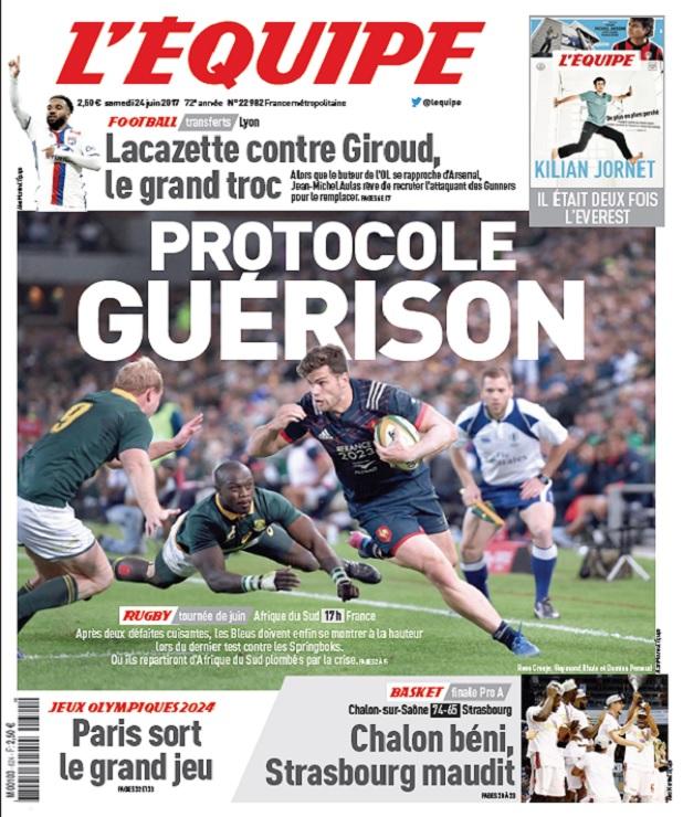 télécharger L'Equipe Du Samedi 24 Juin 2017
