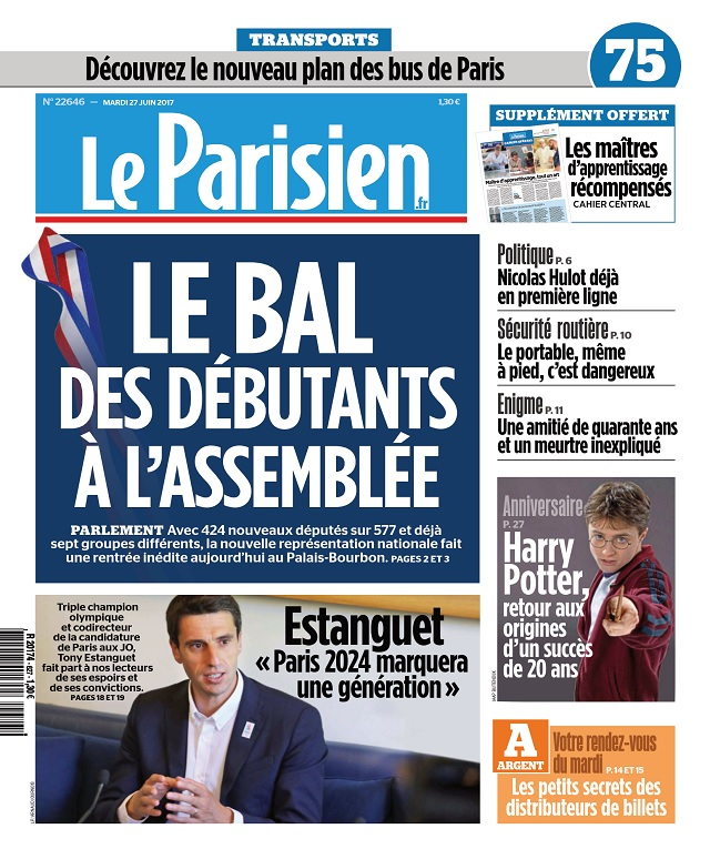 télécharger Le Parisien Du Mardi 27 Juin 2017