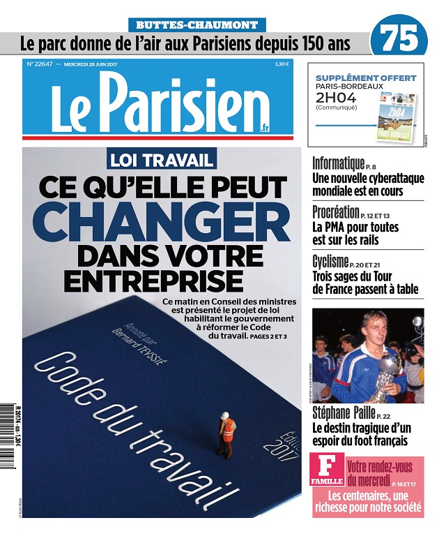 télécharger Le Parisien Du Mercredi 28 Juin 2017